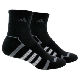 Adidas Mens Performance Quarter Black 2 Pack