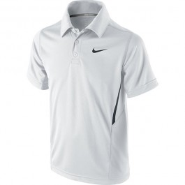 Nike Boys Net Polo White Tennis