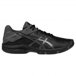 Asics Junior Gel Solution Speed Black Tennis Shoe