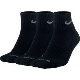 Nike Performance Quarter Mens Socks Black 3 Pair