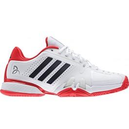 Adidas Mens Novak Pro White Core Red Tennis Shoe