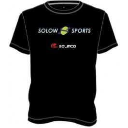 Solow Sports Logo Solinco T Shirt Black
