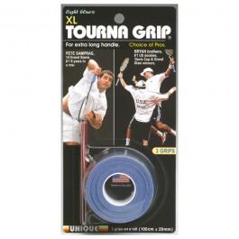 Unique Tourna Grip XL Blue Overgrip 3 pack