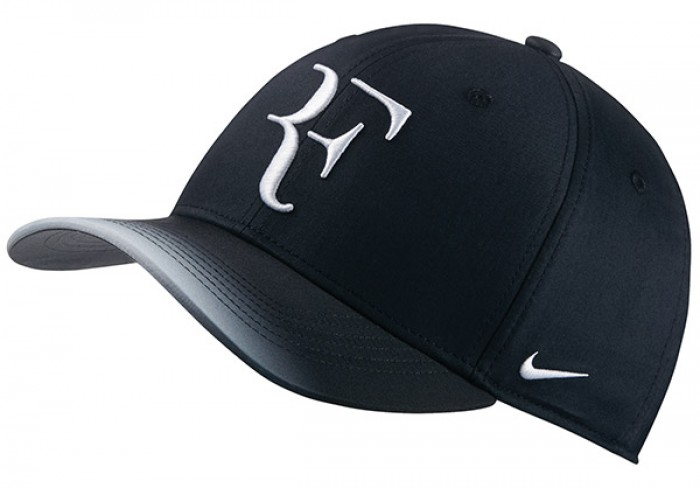 Solow Sports Nike RF Roger Federer Hybrid Hat Black White fe37276f184a