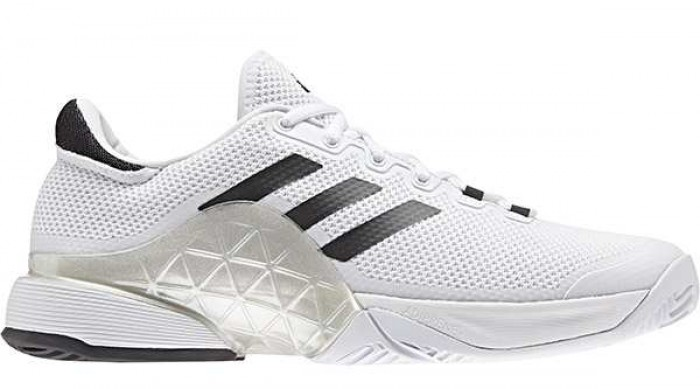 wholesale dealer c3476 4452b Adidas Mens Barricade Boost 2017 White Tennis Shoe