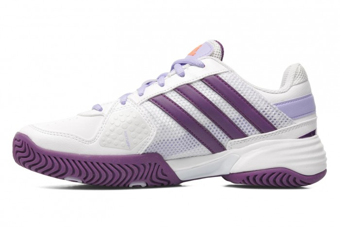 Solow Sports Adidas Girls Barricade Team 3 Tennis Shoes White/Purple