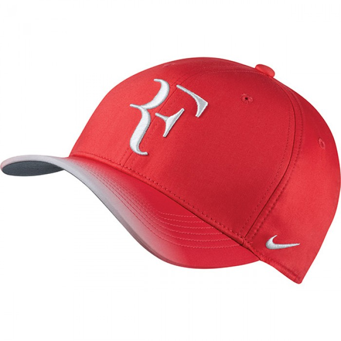 Solow Sports Nike RF Roger Federer Hybrid Hat Red White 5621d95ac84