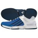 Adidas Mens adizero Ubersonic White Blue Tennis Shoe